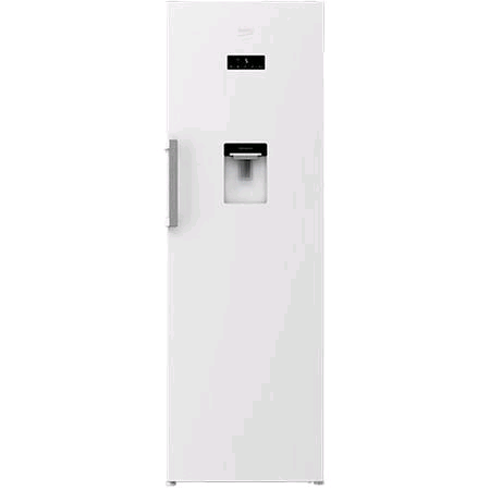 Beko Tall Upright Larder With Non-Plumb Water Dispenser White H1850 x W600 x D650