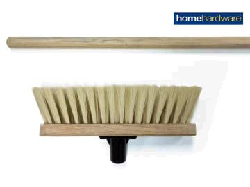 Homehardware 2578104 Soft Cream PVC Broom Head 290mm + Handle VR19HHL