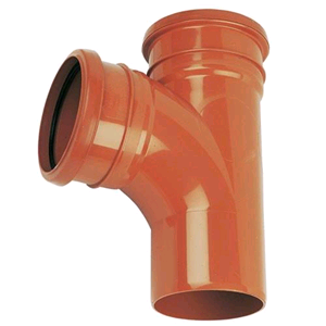 Underground 110mm Equal Junction 87 1/2° Double Terracotta D190 SOIL