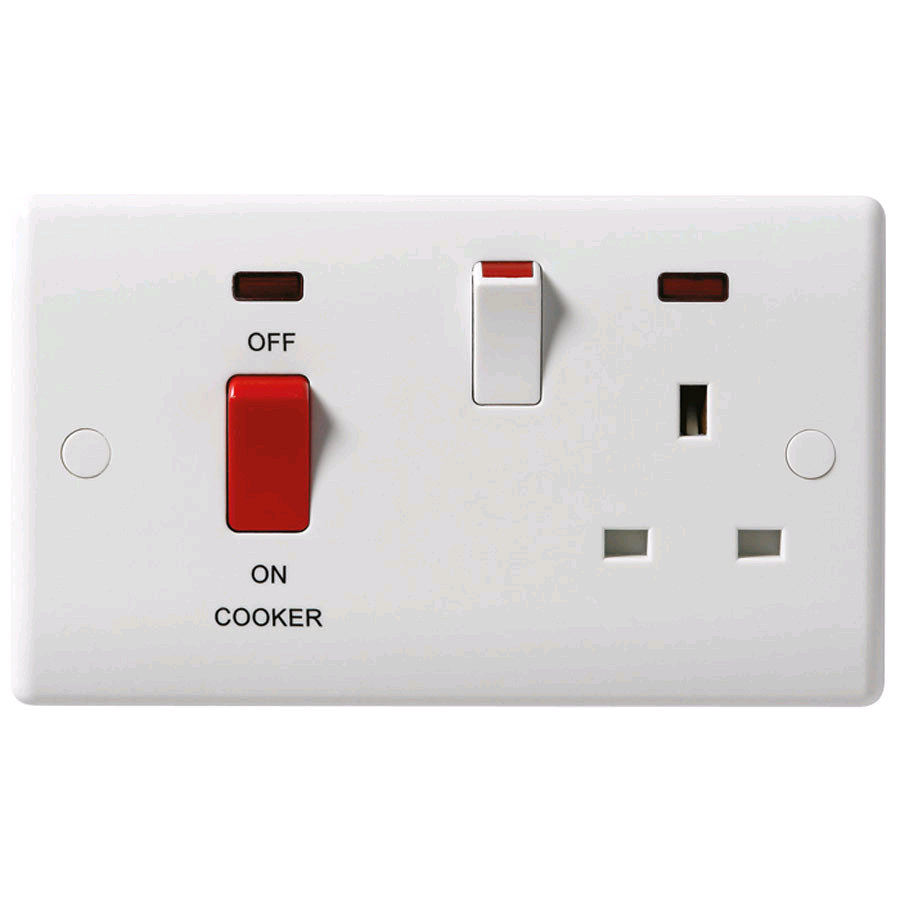 BG 45a DP Cooker Control Unit with 13a Socket and Neon