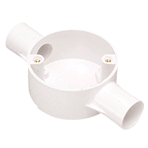 Falcon Conduit Through Box 20mm White