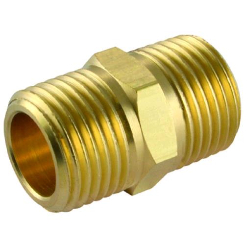 "Brass Hex Nipple 3/4"""