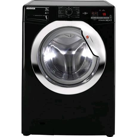 Hoover Washing Machine 8Kg 1500 Spin Speed Black c/w Chrome Door A+++