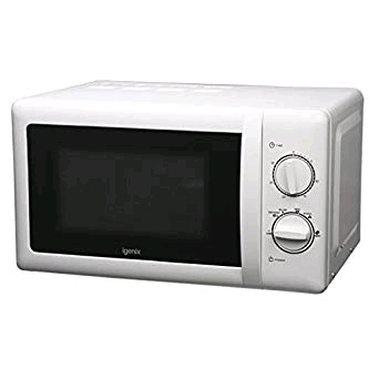 Igenix 20L Manual Microwave 800w White with Stainless Steel Interior