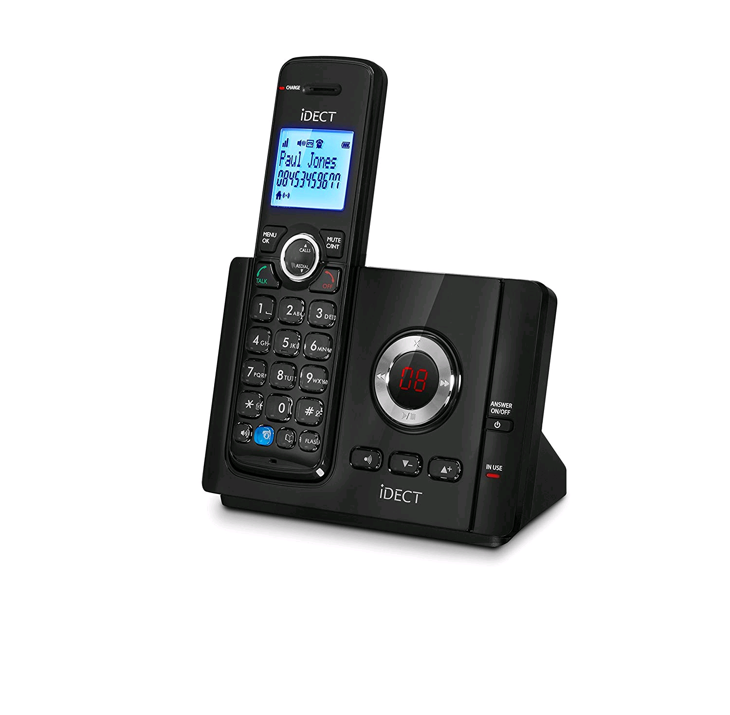 Binatone VANTAGE Cordless Phone Single Handset with Answer Machine Call Blocker