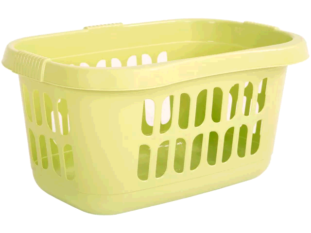 WHAM 7862980 Hipster Laundry Basket Soft Lime 17482