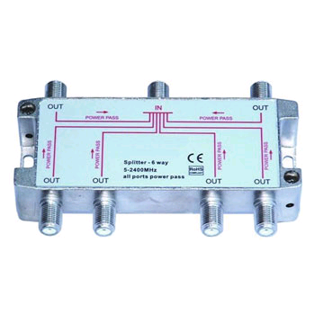 Aerial 6way 16dB Tap Splitter