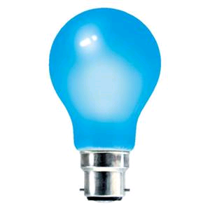 Lamp GLS Coloured 25w BC Blue