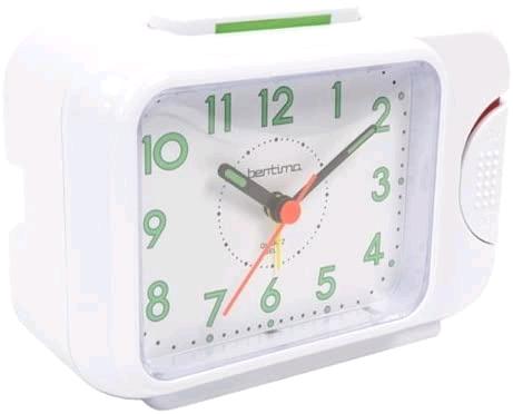 Acctim 12612 Sonnet Quartz Bell Alarm Clock White 0020493