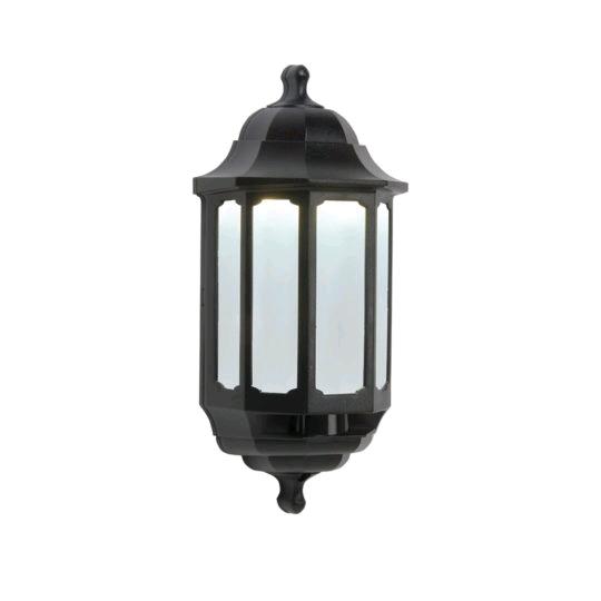 ASD Half lantern LED600 Black Hi Lo PIR
