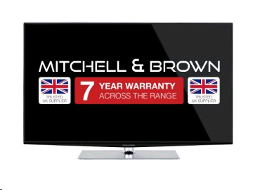 "Mitchell & Brown 55"" LED Ultra High Def 4K TV, T2 Tuner SMART, Built in WIFI, Central stand,  Freeview Play WARRANTY MUST BE REGISTERED"