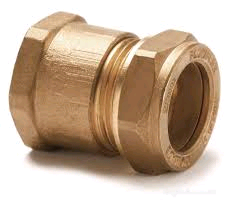 "Copper Female Iron Coupling 22mm x 1/2"" Compression"