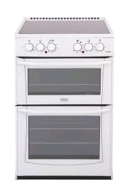Belling Enfield Cooker Ceramic Double Oven White H90 W55 D60cm