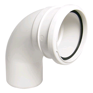 Floplast Soil Pipe 110mm 92 1/2deg Bend White Socket/Spigot