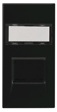 BG Euro Module RJ45 Data Socket Cat5e Black