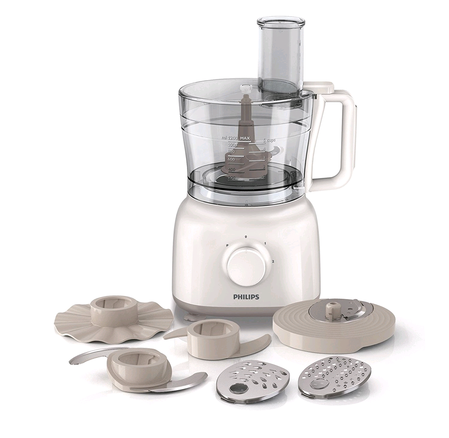 Philips HR7627/01 Daily Food Processor, 1.5 Litre, 650 Watt - White [Energy Class A]
