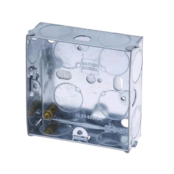 Knock Out Metal Box 1gang 25mm