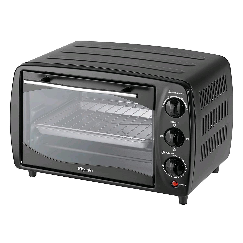 Elgento E14026 Compact Mini Oven, 16 Litre, Black