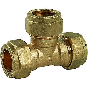 Copper Equal Tee 22mm Compression
