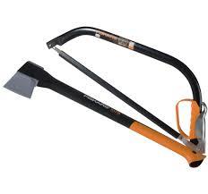 Fiskars 1.57kg/3.4lb Splitting Axe w/ FREE 53cm Bow Saw