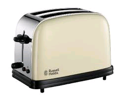 Russell Hobbs 2 Slice Toaster Stainless/Cream