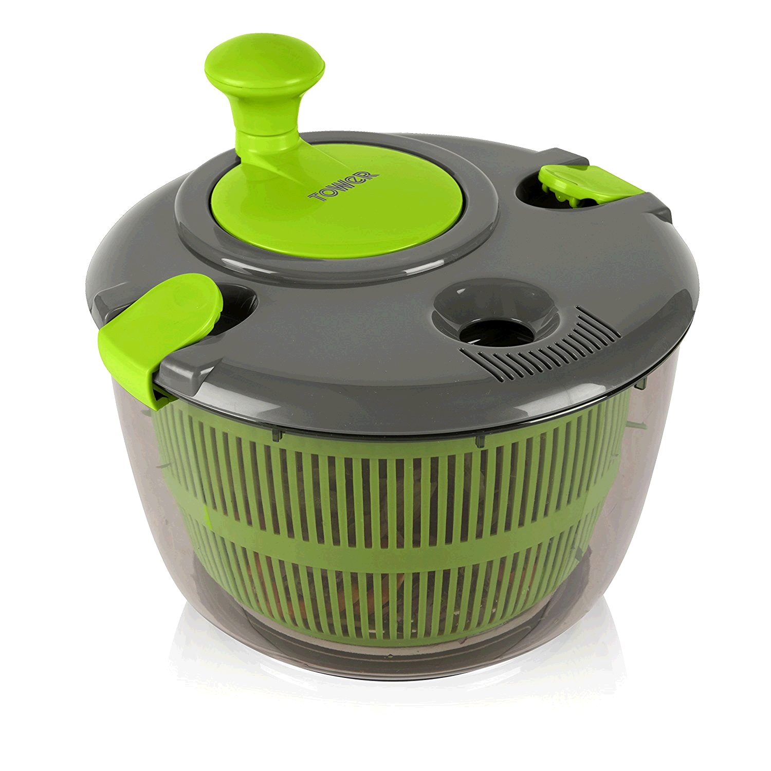 Tower Salad Spinner Green and Graphite