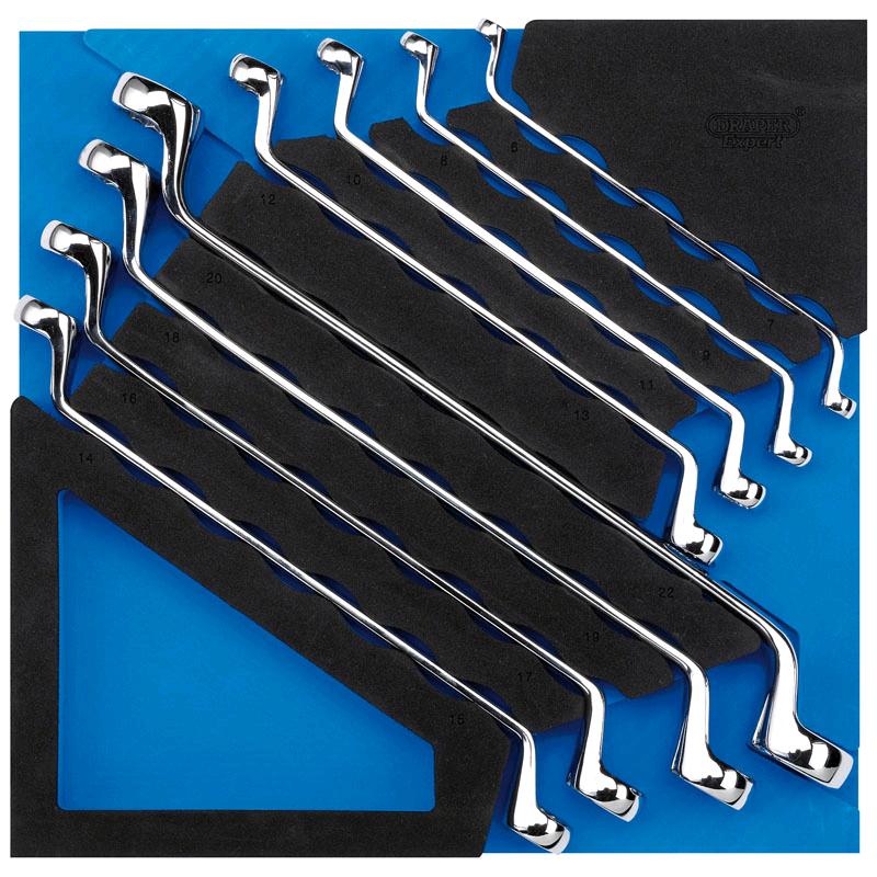 Draper  Ring Spanner Set in 1/2 Drawer EVA Insert Tray (8 Piece)