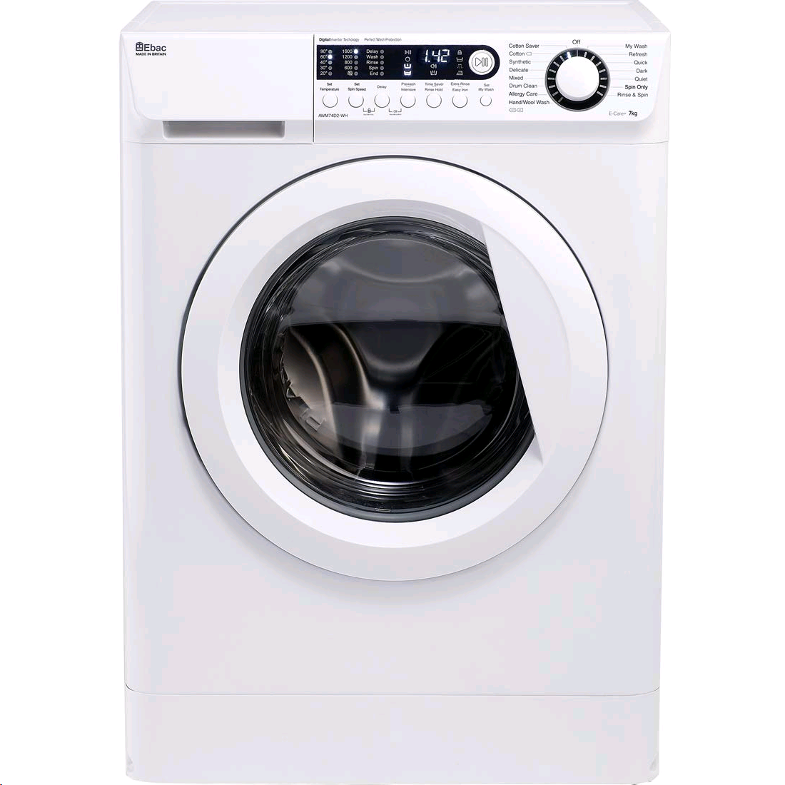 Ebac E-Care AWM74D2-WH Cold Fill Washing Machine 7kg 1400 Spin Speed A+++