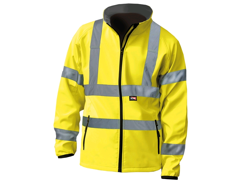 Scan Hi-Vis Yellow Soft Shell Jacket XL (48)