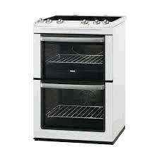 Zanussi 60cm Electric Cooker Doubloe Oven & Ceramic Hob Wh