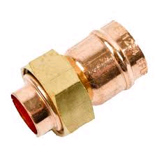 "Copper Straight Tap Connector 22mm x 3/4"" Solder Ring"