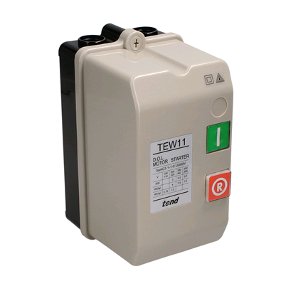 CED DOL Starter 240v AC3 3Kw 4Hp 12a IP65 without Overload