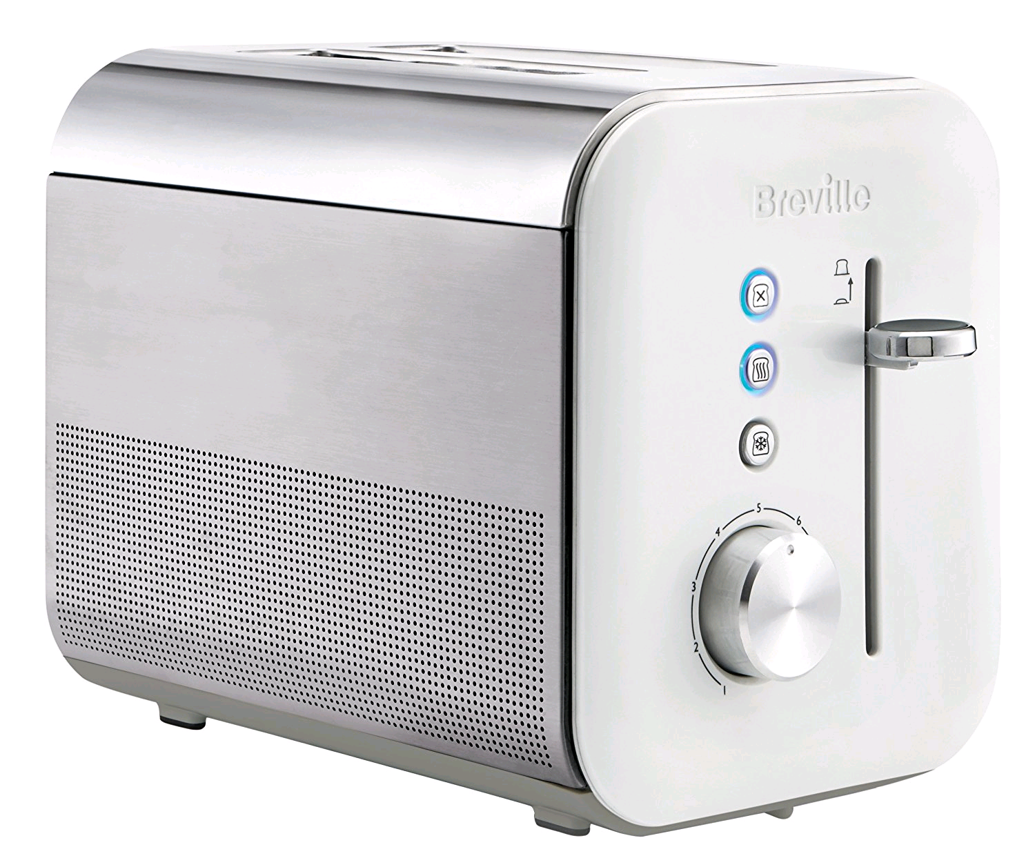 Breville 2 Slice High Gloss Toaster in White