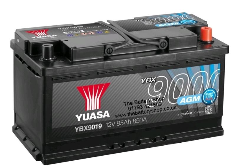 Yuasa 12V 95Ah 850A AGM High Performance Battery