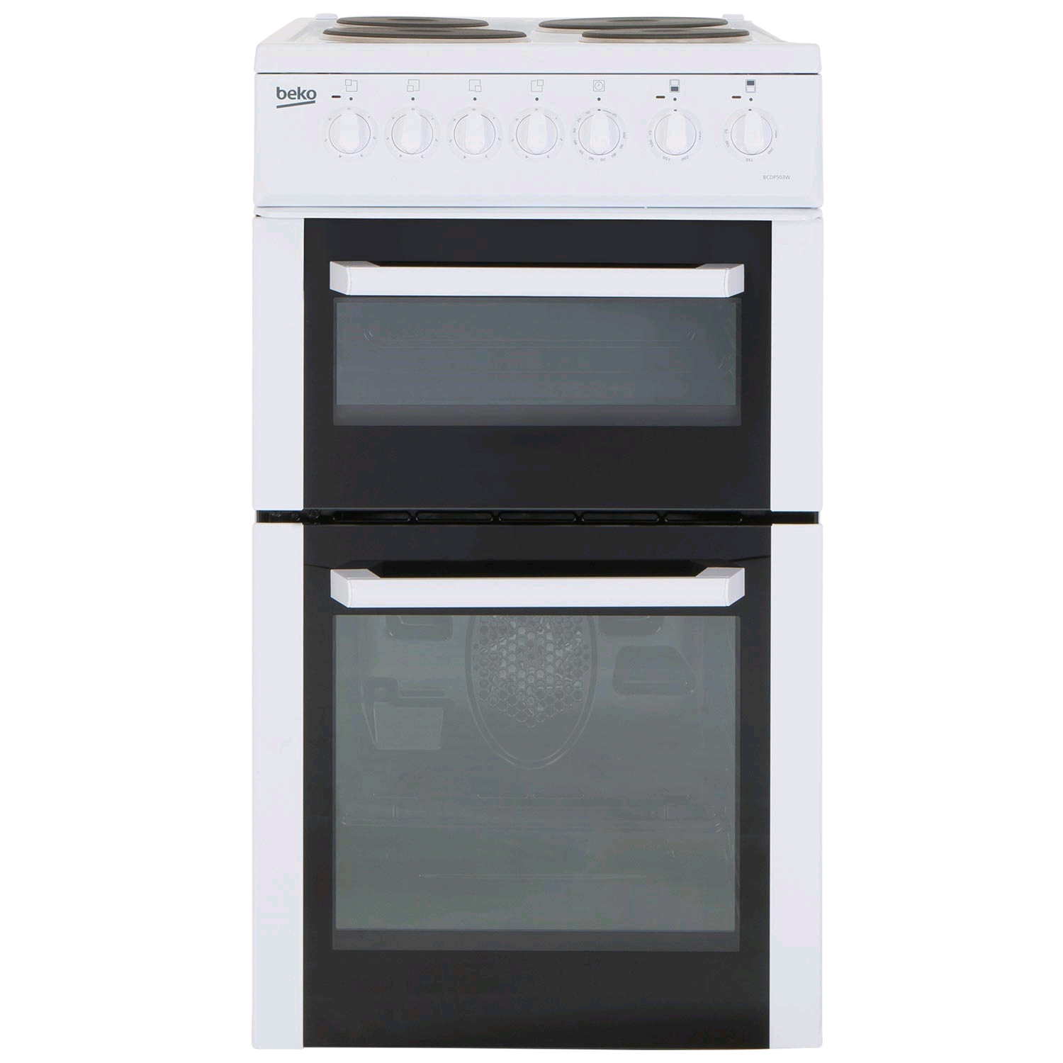 Beko Electric Cooker Twin Cavity Solid Plate Hobs H90 W50