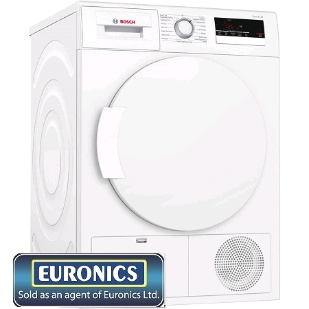 Bosch Condenser Tumble Dryer 8Kg A Energy H84.2 W59.8 D62.5c