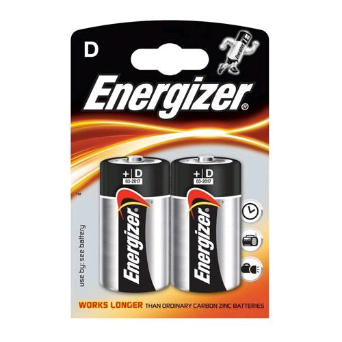 "Energizer Battery 1.5V "" D"" 2pk S8995"