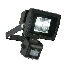 Saxby Olea 11w LED Floodlight c/w PIR in Black
