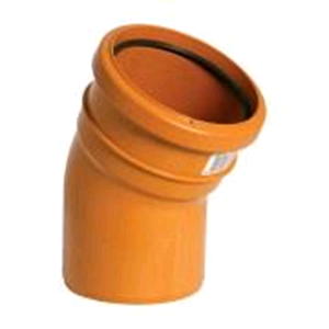 Underground 110mm 30deg Bend M/F Terracotta D164 SOIL