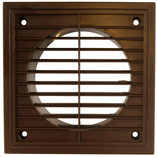 "Manrose Fixed Grill 6"" 150mm Brown"
