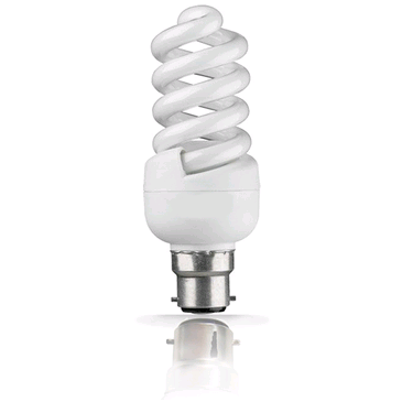 Lamp Low Energy Mini Spiral 9w BC