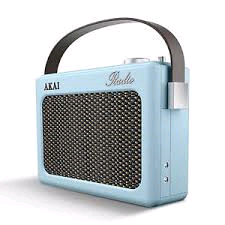 Akai Retro Radio DAB Digital Blue