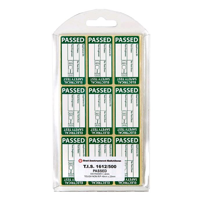 TIS Passed PAT Wrap Labels (250)