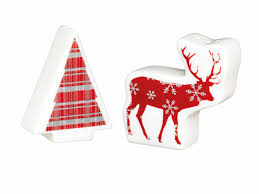 KITCHENCRAFT KCXMSNP2 CHRISTMAS SALT AND PEPPER SHAKERS