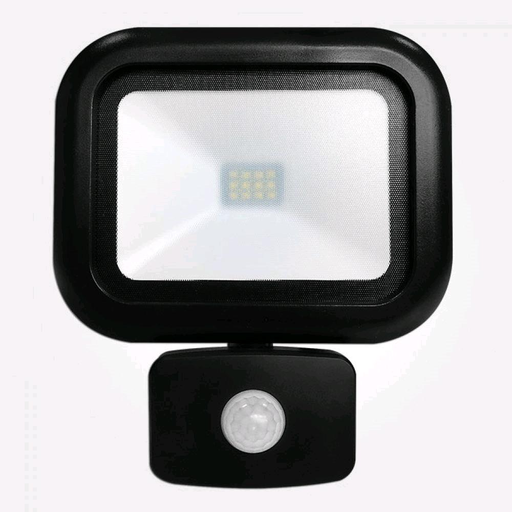 Niglon 20W Polycarbonate LED PIR Black IP65 Warm White