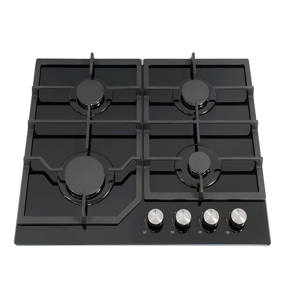 Montpellier Gas Hob On Glass in Black