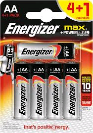 Energizer MAX AA Battery 4 + 1 Pack (5 Pack)