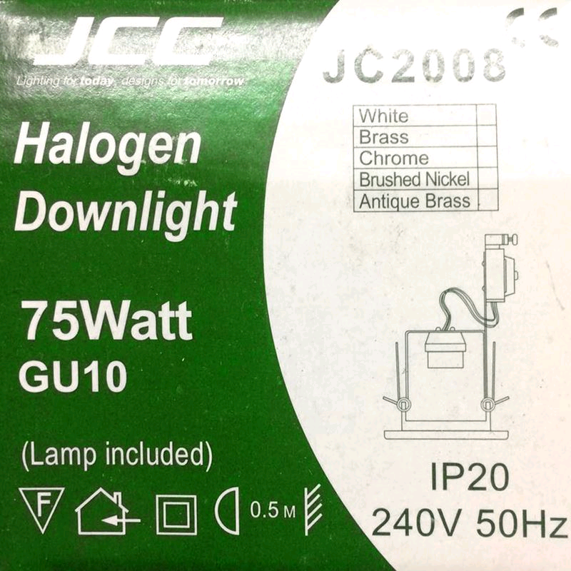 JCC HiSpot Par20 GU10 Downlight Brushed Nickel