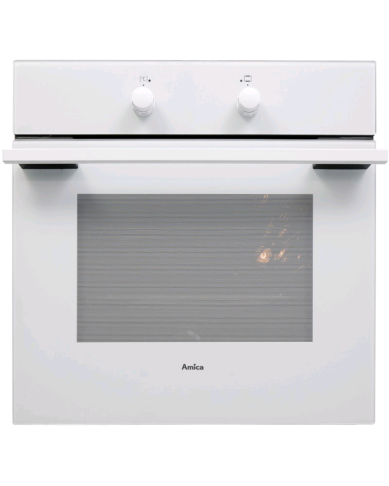 Amica Built in White Single Oven & Grill 13amp Plug Fitted