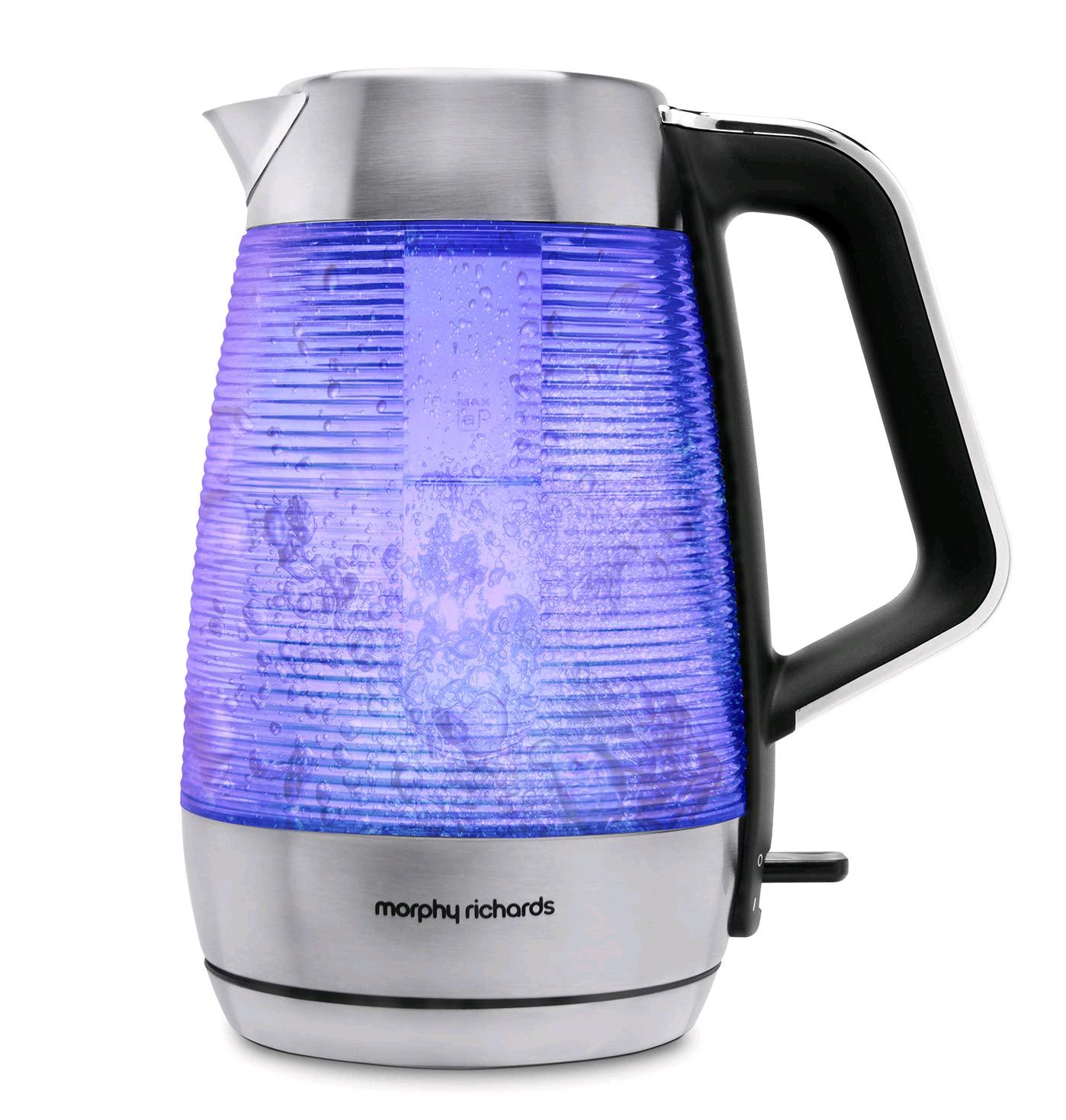 Morphy Richards Vetro Glass Kettle 1.5L Blue Illumination